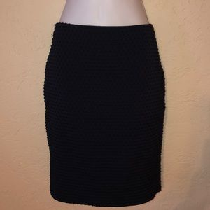 BANANA REPUBLIC swiss dot textured pencil skirt 2P